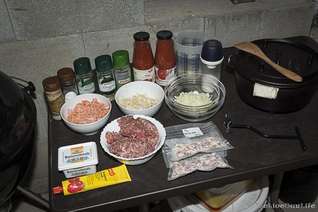 Zutaten für die Bolognese