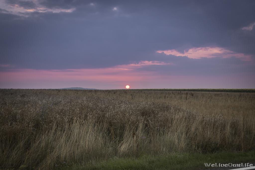 Sonnenaufgang zwischen Tiefenbach und Dobersberg