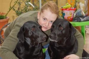 Meine drei Mädels nach einem Spaziergang